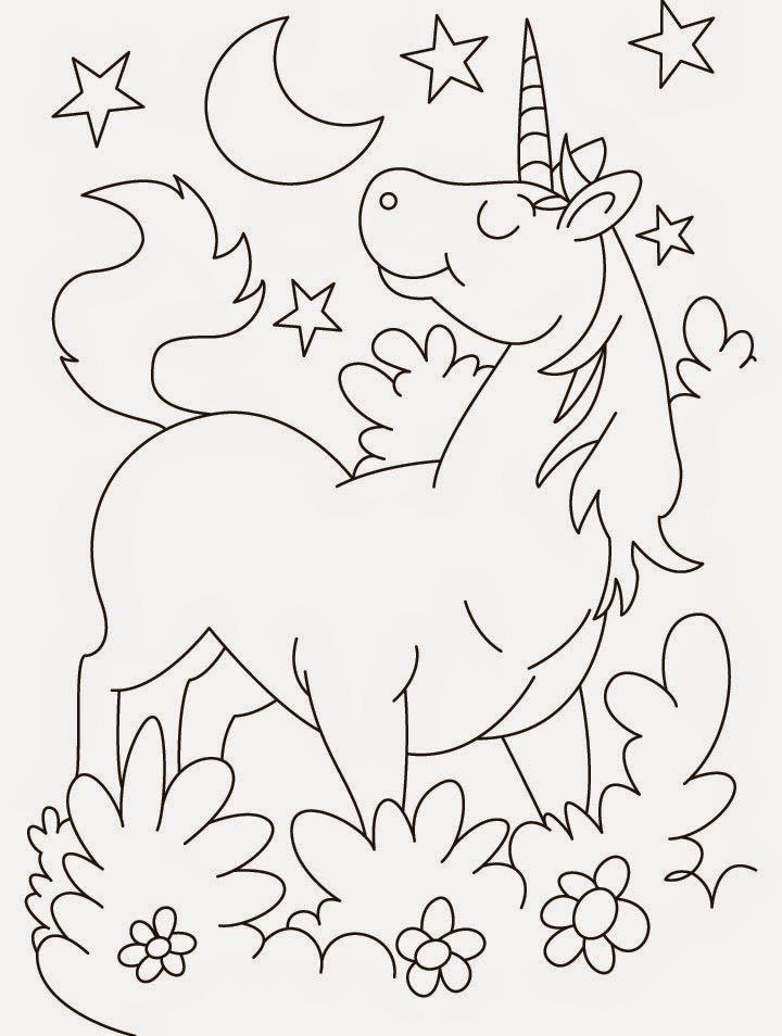 Disegni da colorare unicorno cavallo pony Coloring drawings for kids