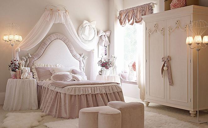 Dormitorios con muebles blancos para chicas colores en casa for Cuarto de los padres blancos