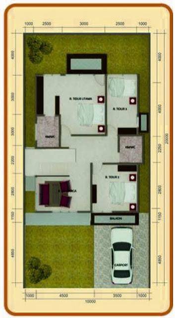 Denah Rumah Lantai 3 Ruang Tidur