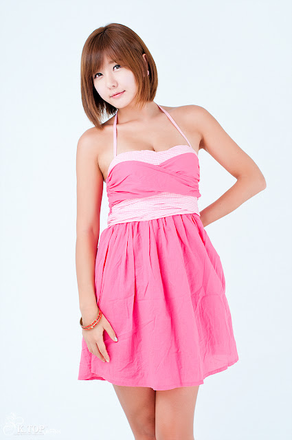 4 Ryu Ji Hye in Pink-Very cute asian girl - girlcute4u.blogspot.com