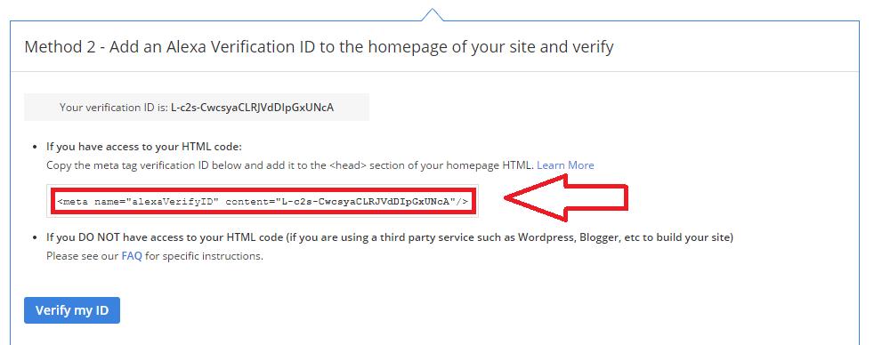 Cara Verifikasi Blog di Alexa