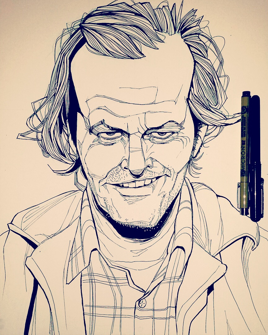 The Shining Jack Nicholson Illustration