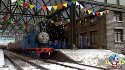 James Edward the train Island of Sodor Knapford station platform Thomas the tank engine and freinds