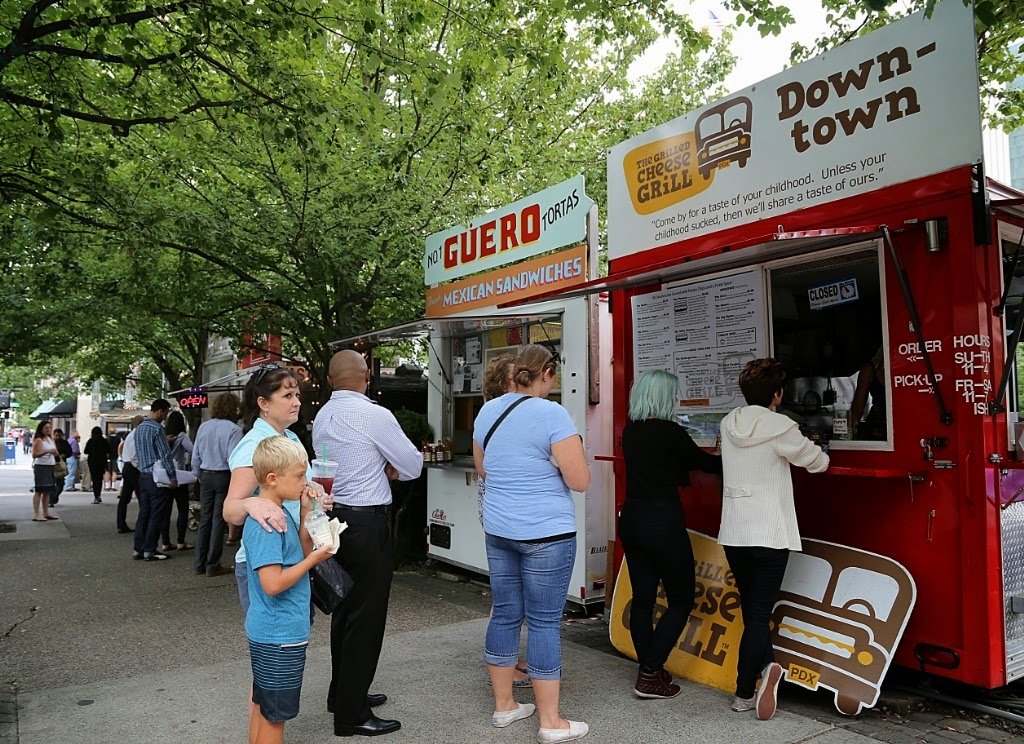 Grilled cheese, food carts, Portland