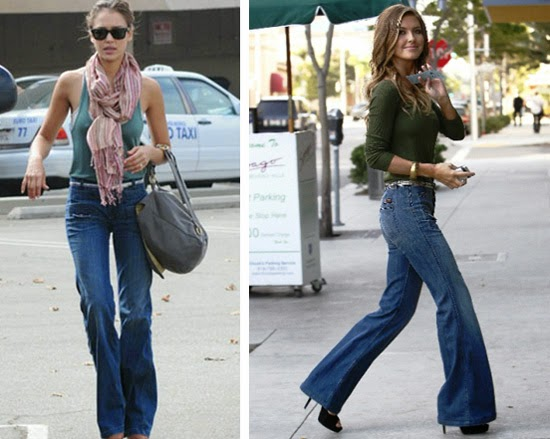 RiRimaniaa: Wide-leg jeans is Back...!!