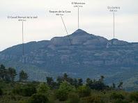 El Montcau des del Serrat del Vintró