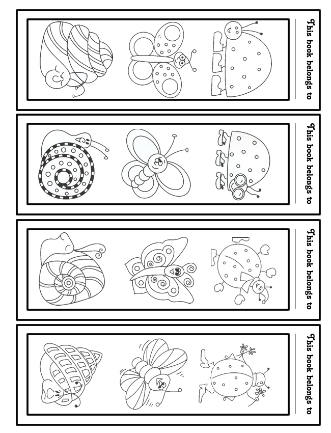 Free Kids Bookmarks to Print and Color