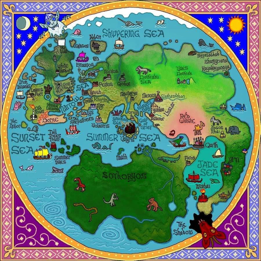 Los Siete Reynos y las ciudades libres mas allá del Mar Angosto