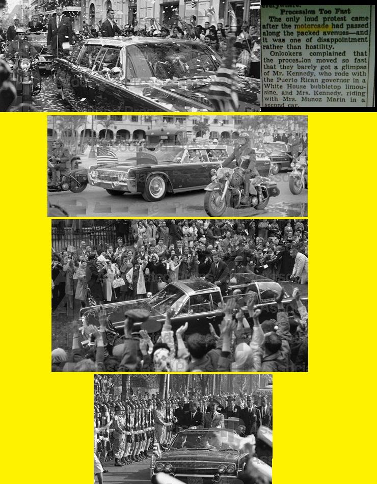 JFK MOTORCADES PRESIDENT KENNEDY