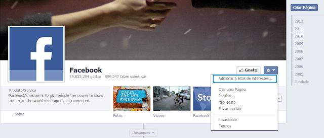 Como organizar o Feed de Noticias do Facebook
