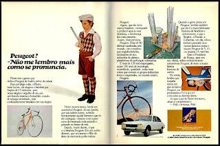 propaganda Peugeot - 1977;  brazilian cars in the 70's;  propaganda anos 70. propaganda carros anos 70. reclame anos 70. Oswaldo Hernandez;