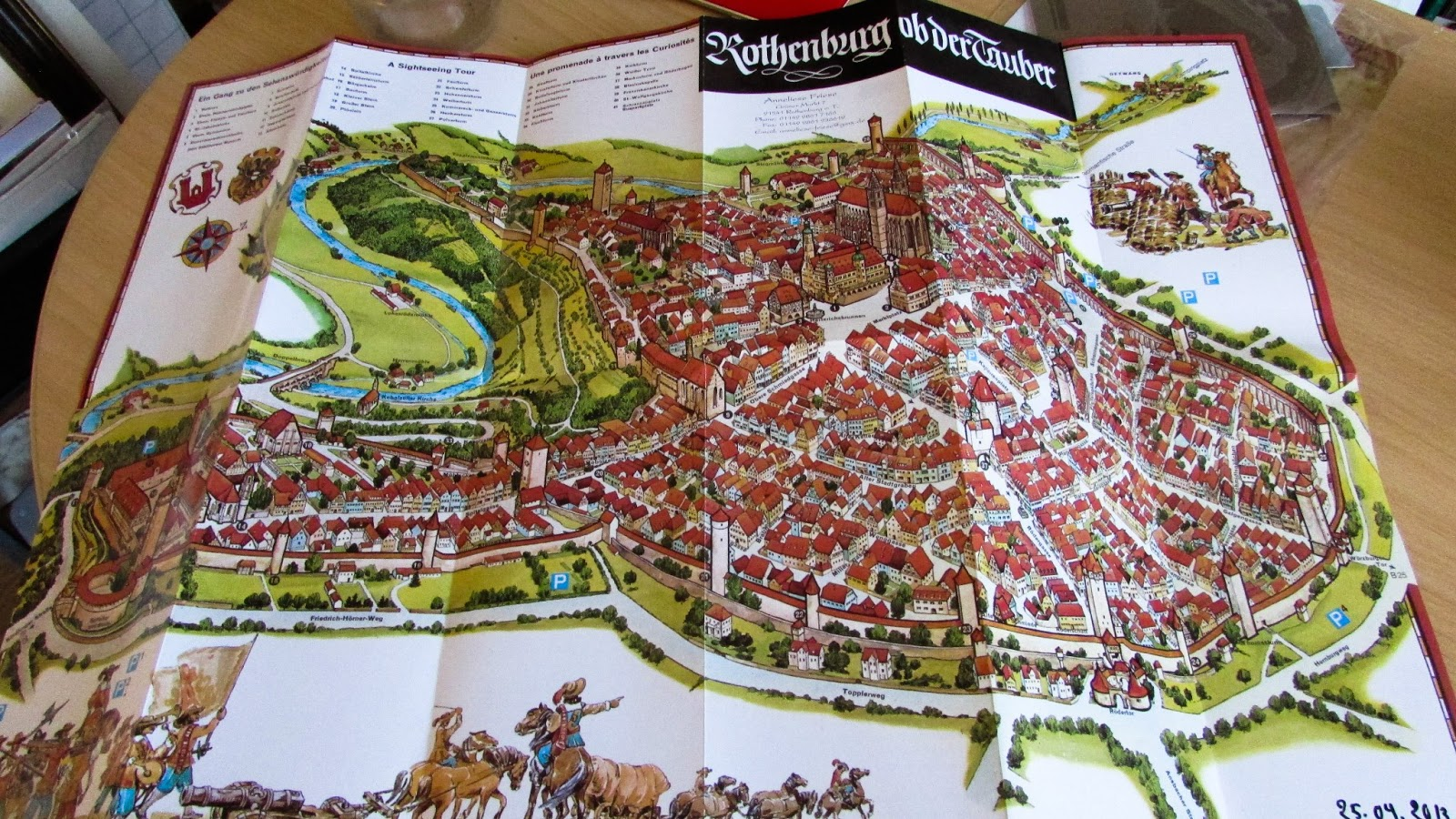 Finding Art Caught in the Middle Ages in Rothenburg ob der Tauber – Map Rothenburg Germany