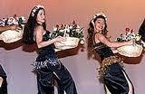 dança da cesta de flores/frutas