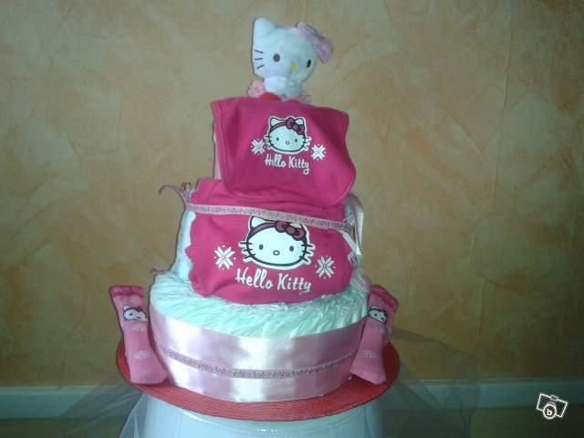 Babyshower planner diaper cake confection de gateau de couches - Gateau de couche hello kitty ...