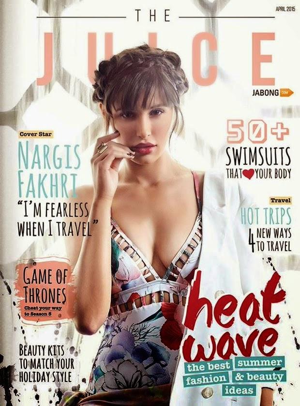 Actress, Model @ Nargis Fakhri - The Juice magazine, April 2015