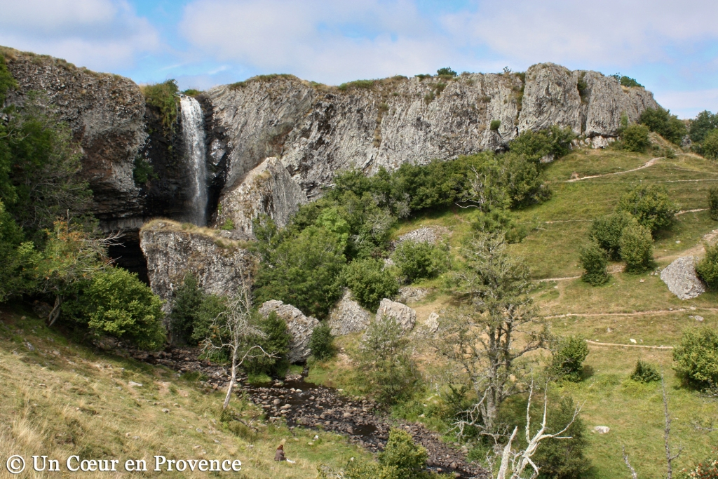 The Droc waterfall on the plateau de l'Aubrac