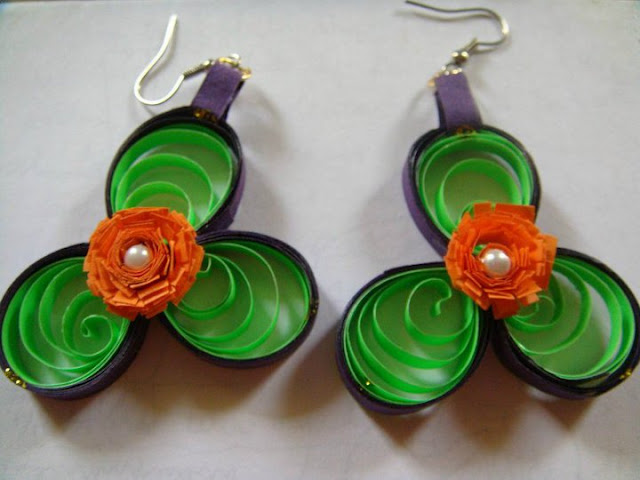 paper quilling artificial jewellery quilling new designs