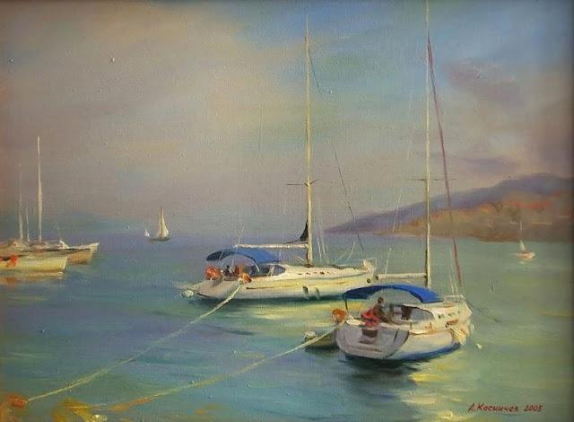 Landscape painting by russian artist alexander kosnichev