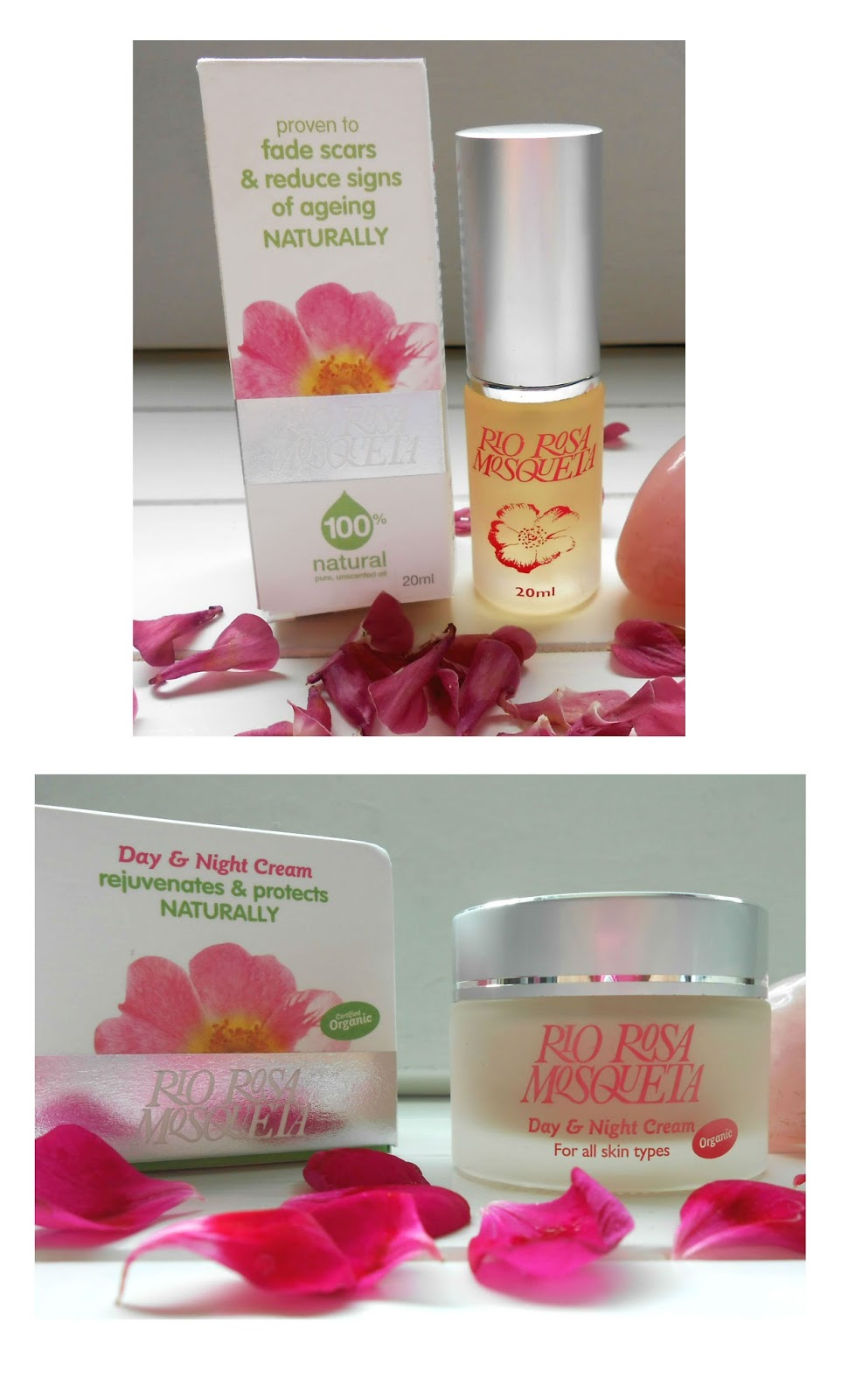 Rio Rosa Mosqueta Anti-Ageing Day & Night Cream & Rosehip Oil