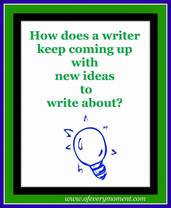 writing, new ideas
