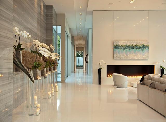 Modern shiny hallway
