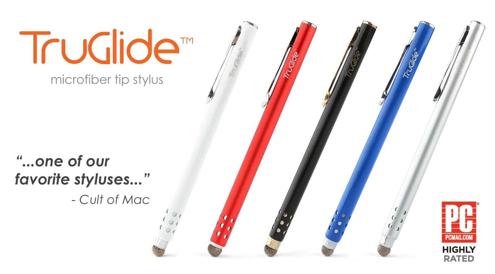 Splash of LYNKtec TruGlide Styluses