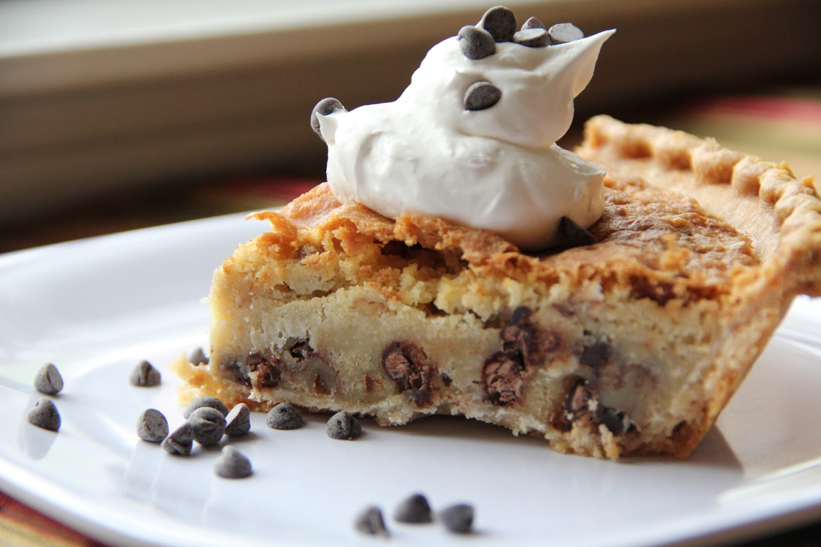 Chocolate Chip Pie | Mix and Match Mama