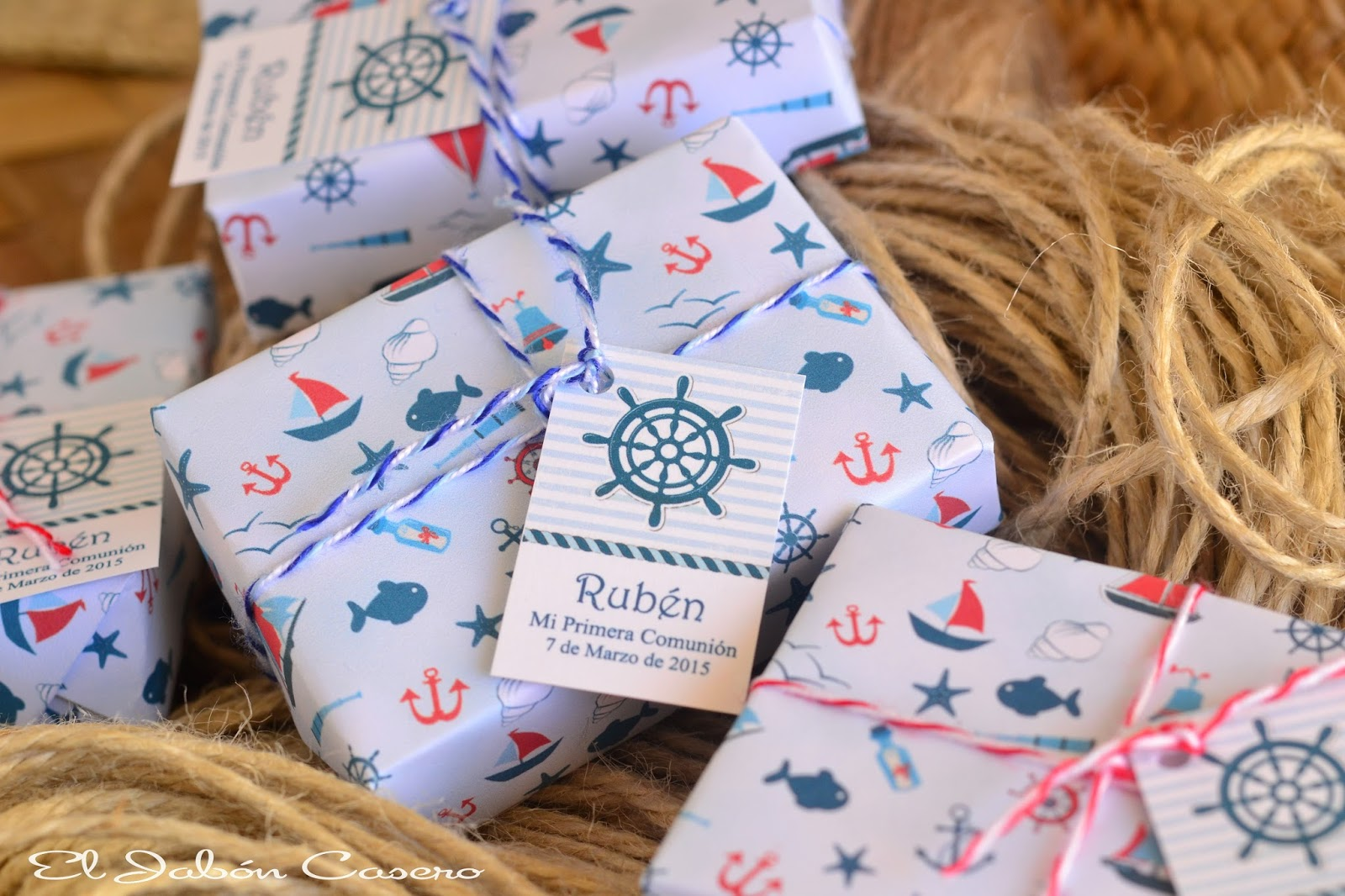 Jabones marineros  detalles de comunion de niño
