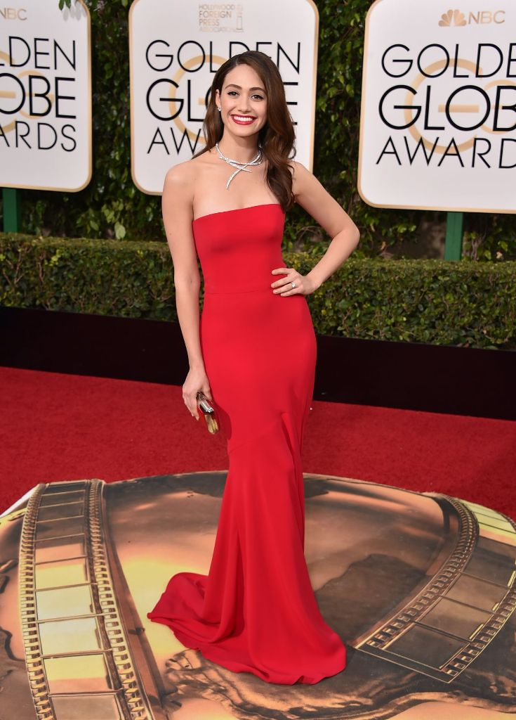 Emmy rossum 2016 golden globe awards red carpet dress fashion style - Golden globes red carpet ...