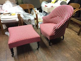 椅子の張り替え <ロルカ> MLF2246-02・2245-05