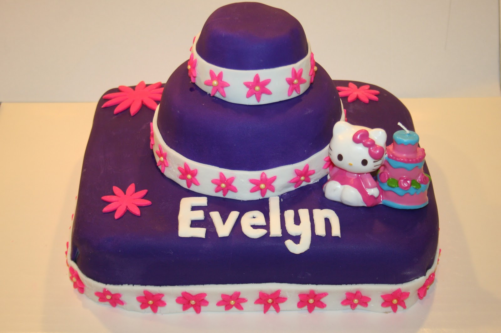 Growing Up Veg Purple Hello Kitty Birthday Cake