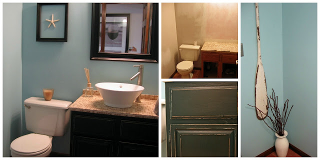 Powder Room Redesign, Vanilla Bean
