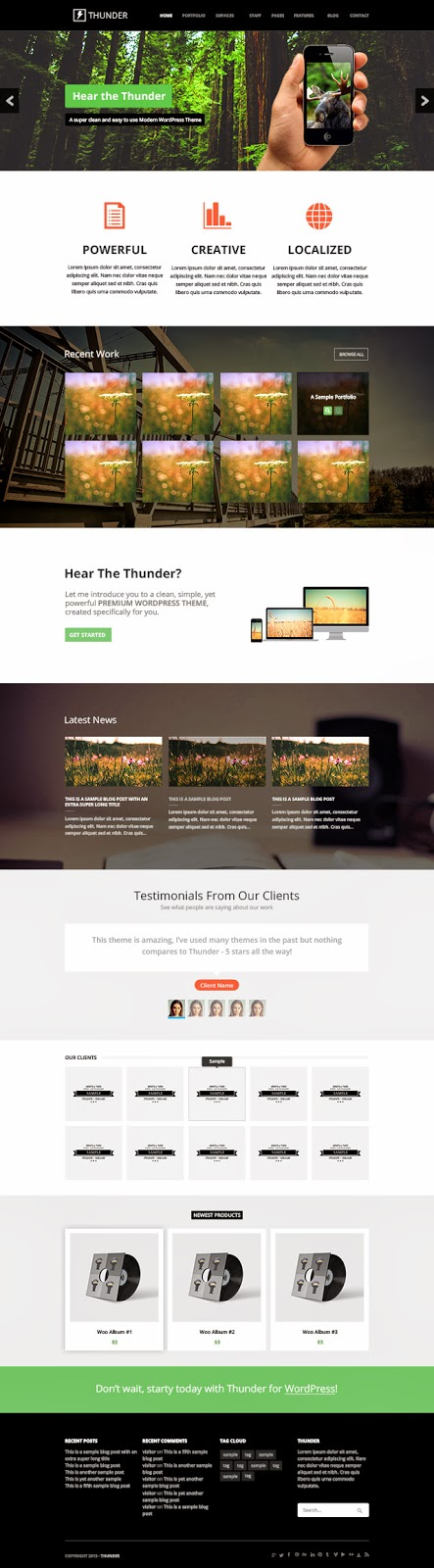 A Free Mega Website PSD Template