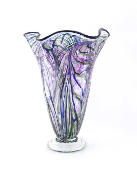hand blown art vase by Paradise Art Glass