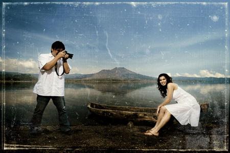 jika fotografer bikin foto pre weddingnya Sendiri