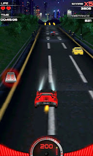 Screenshots of the Speed Night Racing HD for Android tablet, phone.