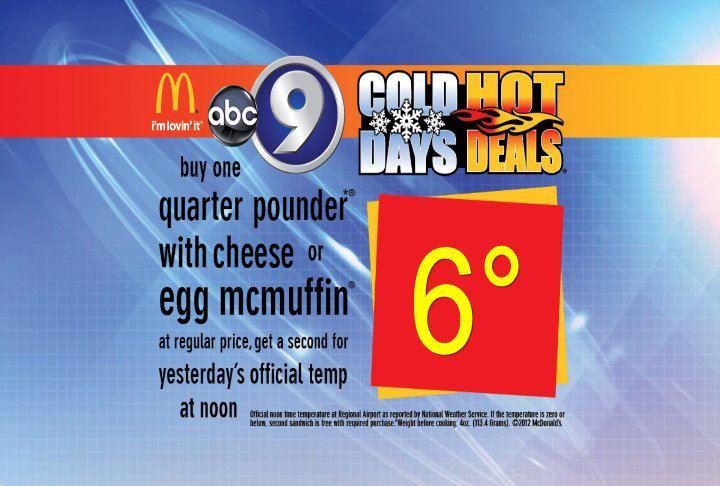 Cold days hot deals mcdonald's sioux falls