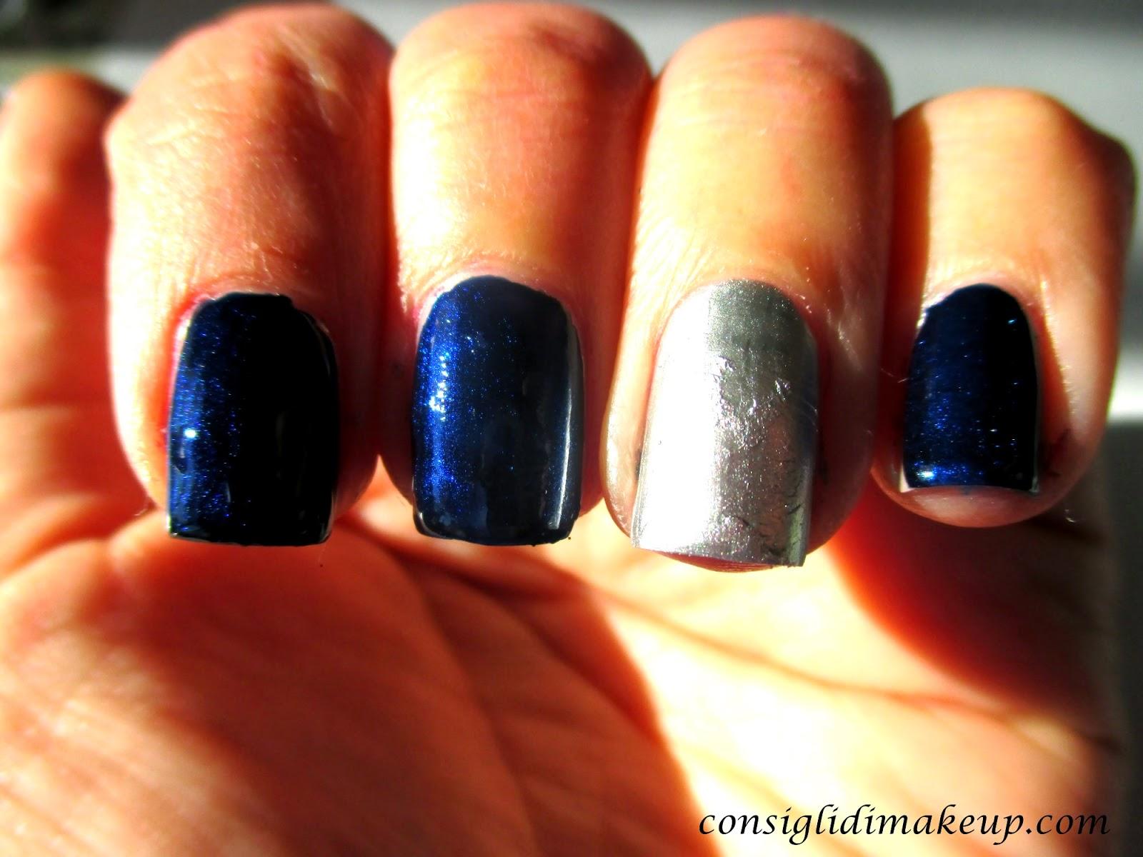 nail art capodanno facile