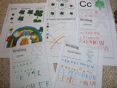 patrick's day worksheets