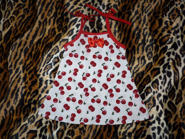little white cherry dress