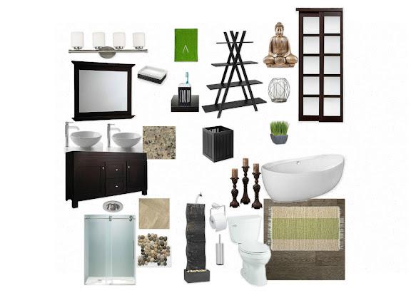 Decorating addiction karen 39 s zen bathroom for Zen bathroom accessories
