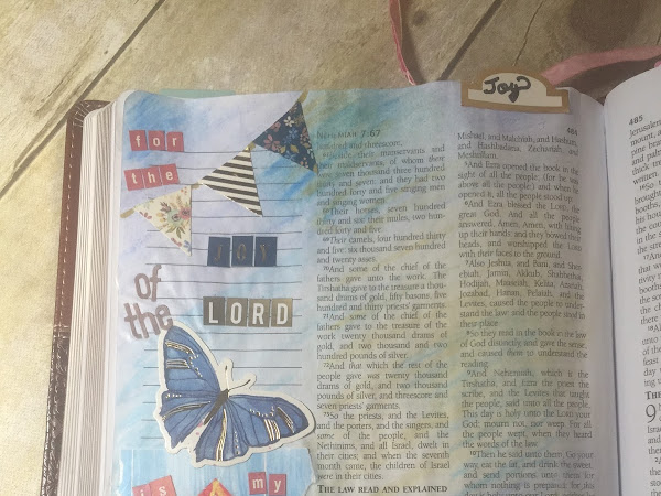 Bible Journaling Nehemiah 8:10 | I Choose Joy