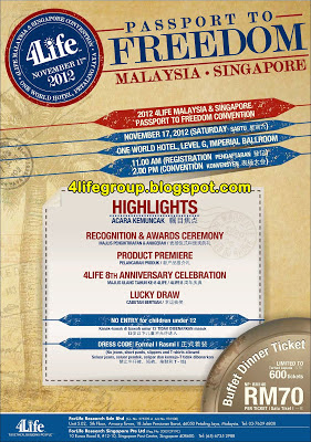2012 4Life Passport To Freedom Convention Malaysia Singapore