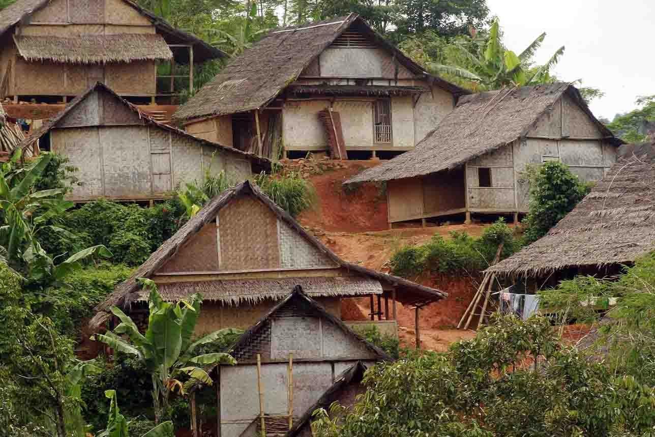 gambar rumah adat banten badui