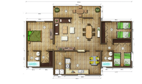 Dise os de casas planos gratis planos casas gratis 109 m2 - Diseno de planos de casas ...