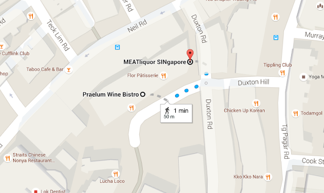 Singapore Map - MEATliquor SINgapore