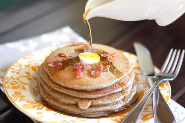 Almond Buckwheat and Bacon Pancakes - Gluten Free recipe by Barefeet In The Kitchen