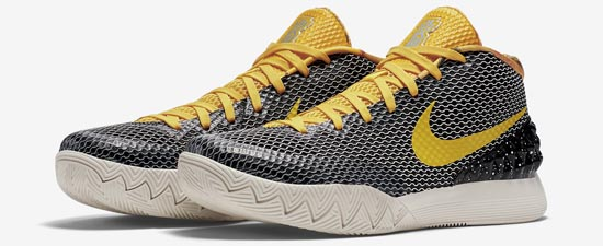 A part of the Rise Pack this Nike Kyrie 1 LMTD omes in a black tour  yellow sail and light bone colorway  Featuring a blackbased upper with  yellow
