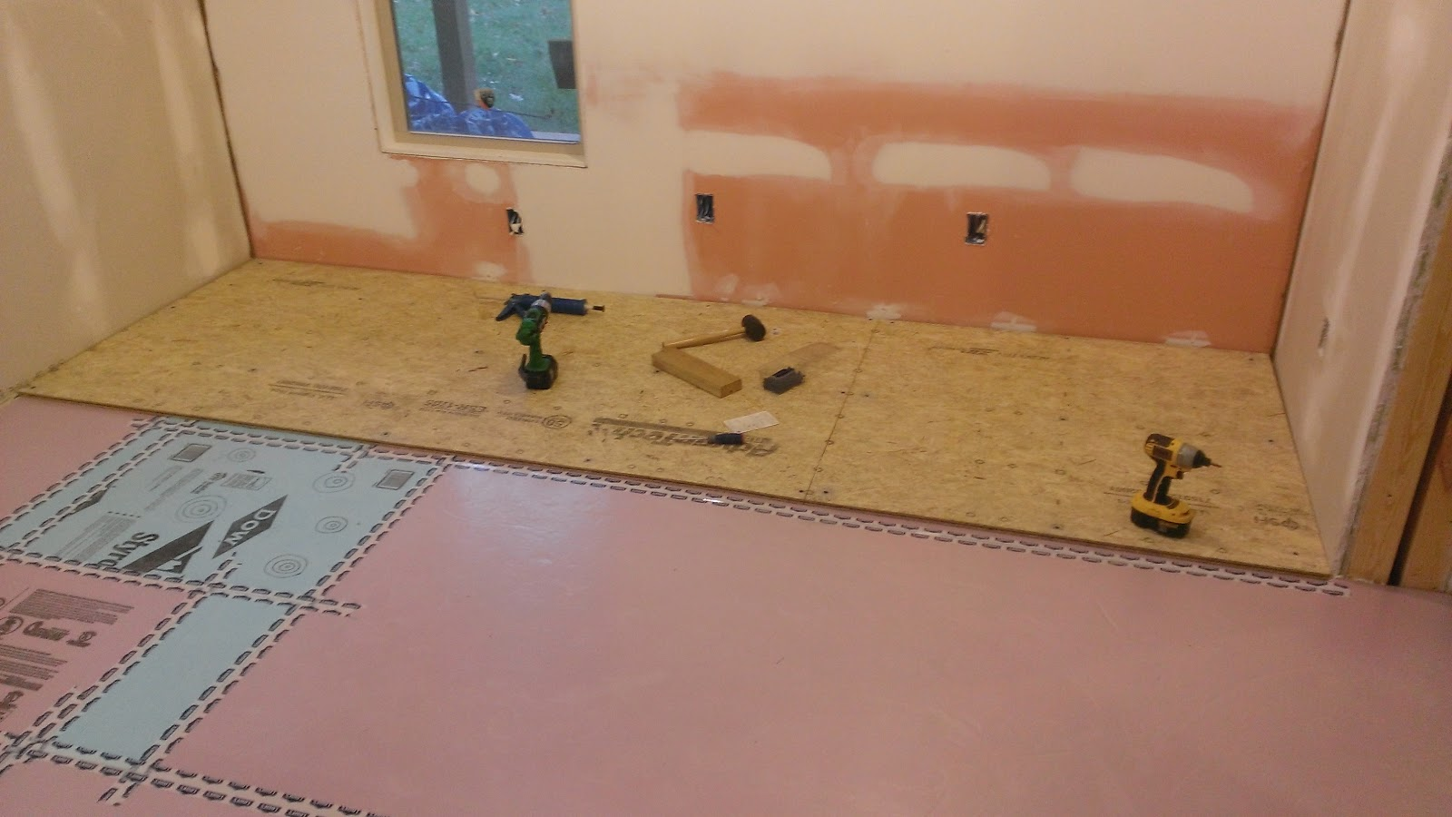 how to finish a basement and home theatre subfloor work has begun