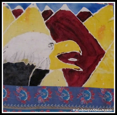 photo of: Batik Eagle from Student Quilt